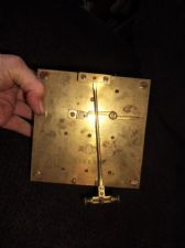 VINTAGE BRASS CLOCK MOVEMENT FOR SPARES CARL THEODOR WAGNER 1852 BACKSTAMP